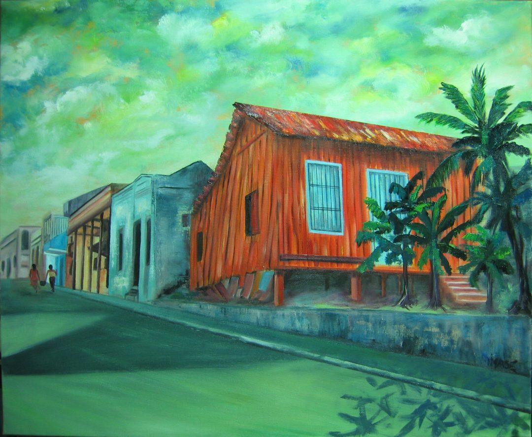 Casa de madera 73×60 cm